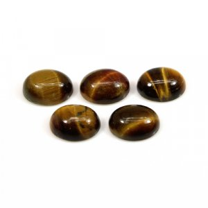 Tiger Eye 9x7mm Oval Cabochon 1.86 Cts
