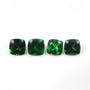 Tsavorite 6x6mm Square Faceted Cut 1.00 Cts