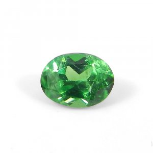 Tsavorite 8x5mm Oval Faceted Cut 0.75 Cts