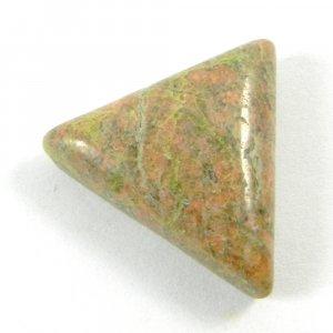Unakite Jasper 25x22mm Triangle Cabochon 30 Cts
