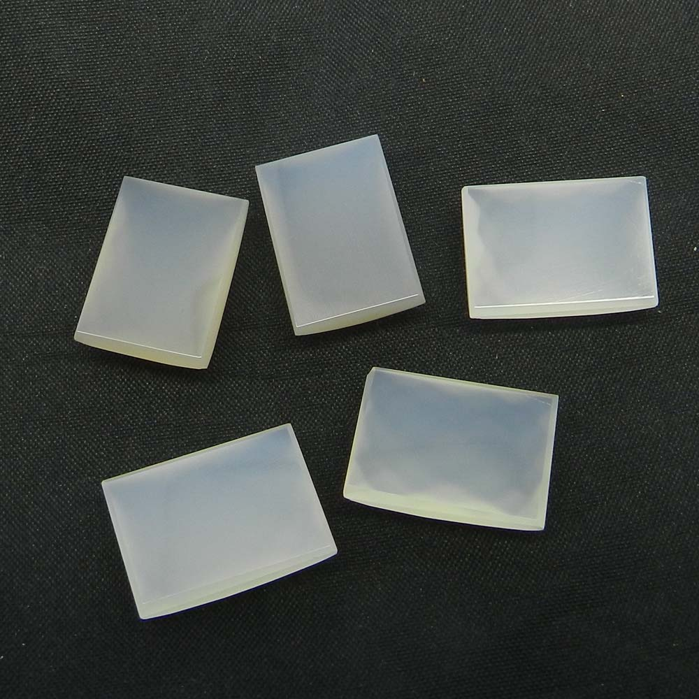 White Chalcedony 18x13mm Rectangle Checker Cut 14.3 Cts