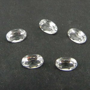 White Topaz 6x4mm Oval Cut 0.54 Cts