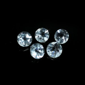 White Topaz Gemstone Roundel Faceted 8mm 2.33 Cts