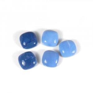 Wholesale Gemstone Blue Opal 14x14mm Cushion Cabochon 8.45 Cts