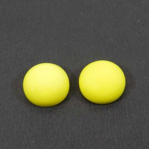 Wholesale Price ! 1 Pair Yellow Chalcedony 14mm Round Cabochon 18.25 Cts