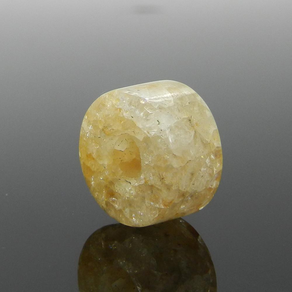 Yellow Aventurine 14x8x5mm Round Flat Beads