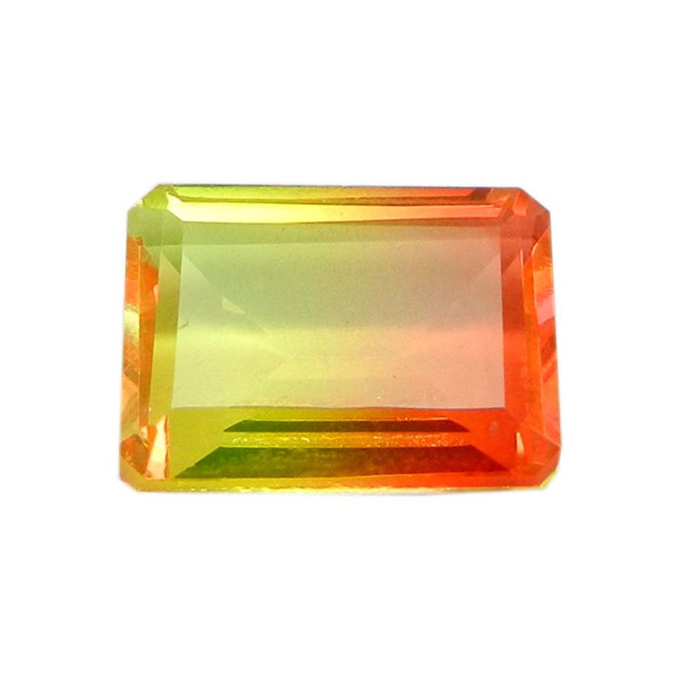 Yellow Bio Color Doublet 14x10mm Rectangle Cut 7.4 Cts