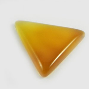 Yellow Chalcedony 35x31mm Trillion Cabochon 38.5 Cts