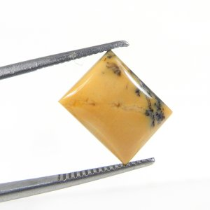 Yellow Dendritic Opal 13x10mm Rectangle Cabochon 4.55 Cts