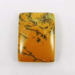 Yellow Dendritic Opal 25x18mm Rectangle Cabochon 23.0 Cts
