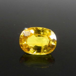 Yellow Sapphire 10x7mm Oval Faceted Cut 4.45 Cts