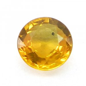 Yellow Sapphire 6mm Round Cut 1.2 Cts