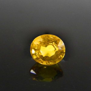 Yellow Sapphire 7x6mm Oval Faceted Cut 2.20 Cts