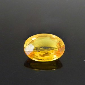 Yellow Sapphire 9x6mm Oval Faceted Cut 2.15 Cts