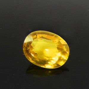 Yellow Sapphire 9x7mm Oval Faceted Cut 2.75 Cts