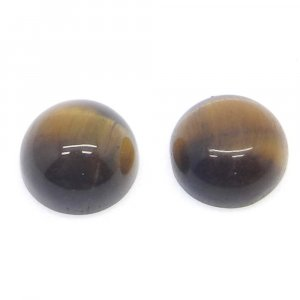Yellow Tiger Eye 10mm Round Cabochon 4.55 Cts