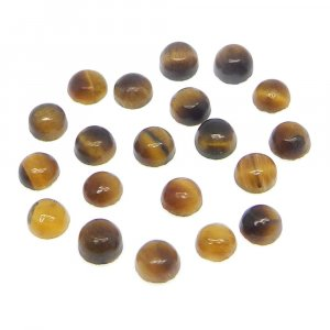 Yellow Tiger Eye 4mm Round Cabochon 0.27 Cts