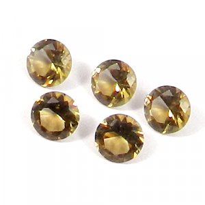 Zultanite 6x6mm Round Faceted Cut 0.75 Cts