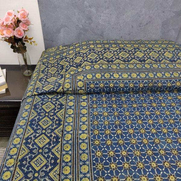 Aamir Ajrak Double Bedsheets