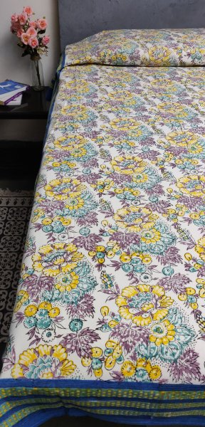 Double Bedsheet Handblock BHD100