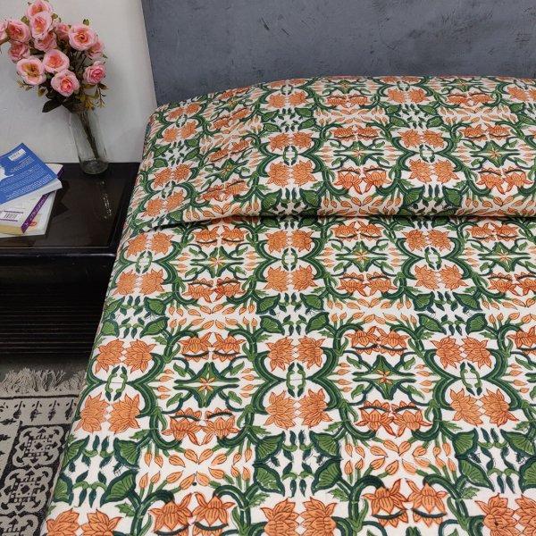 Double Bedsheet Handblock BHD103