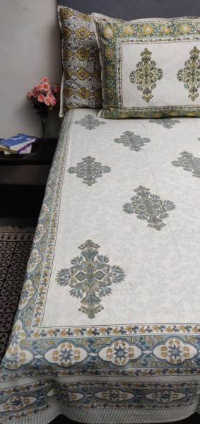 Double Bedsheet Handblock BHD106
