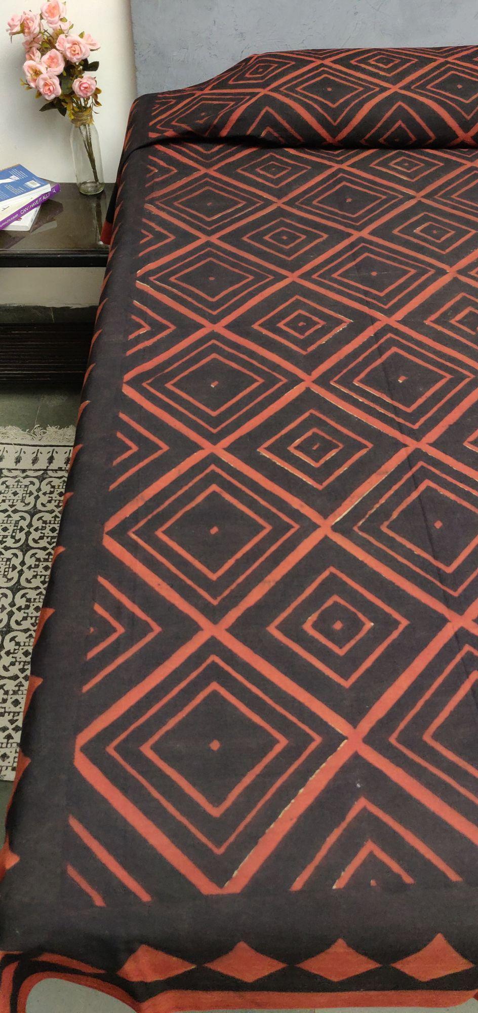 Double Bedsheet Handblock BHD110