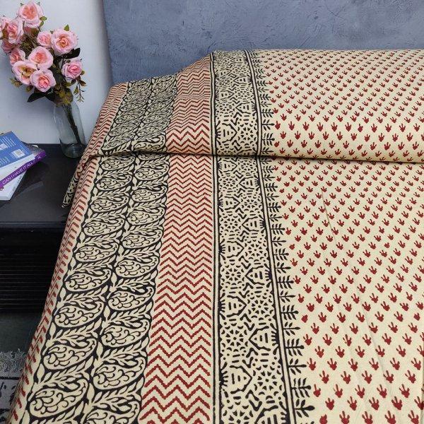 Double Bedsheet Handblock BHD122