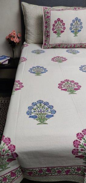 Double Bedsheet Handblock BHD127