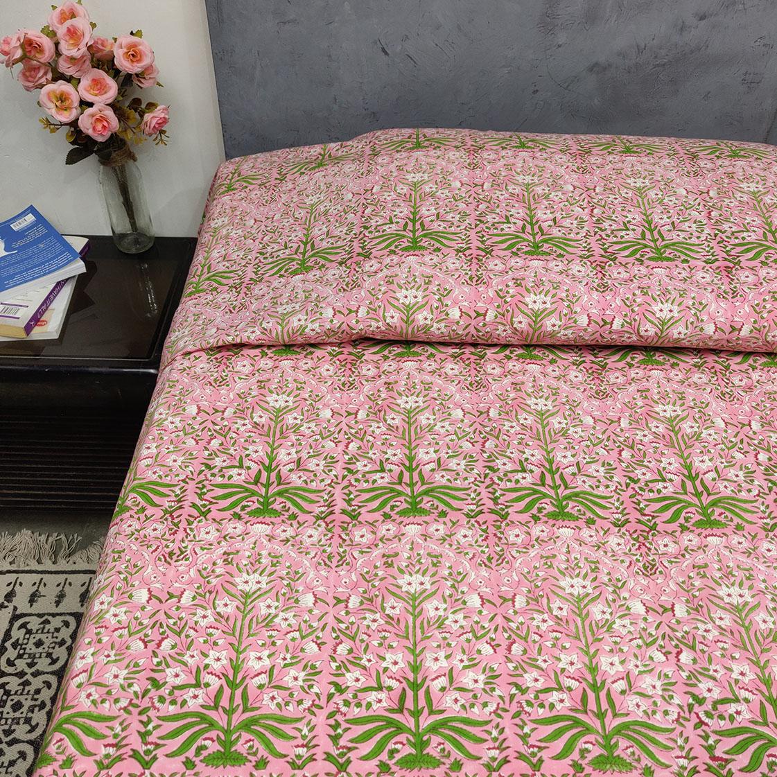 Double Bedsheet Handblock BHD128
