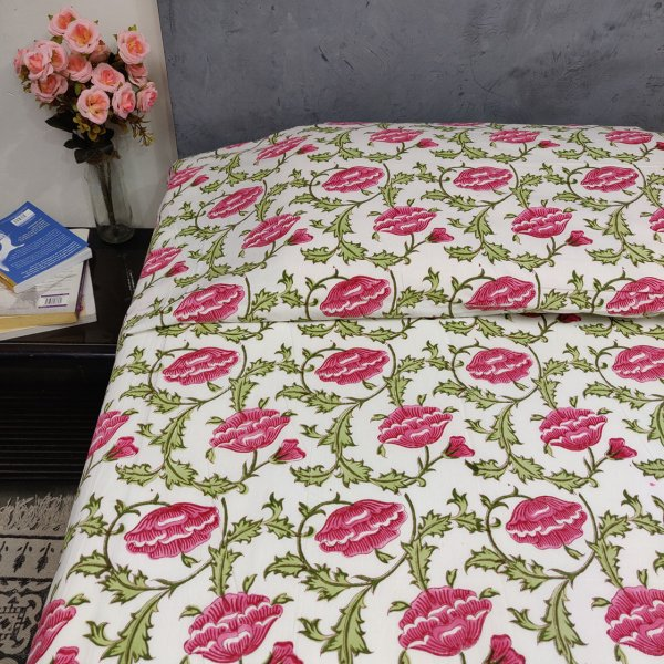 Double Bedsheet Handblock BHD135