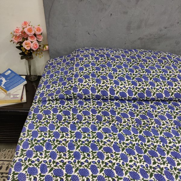 Double Bedsheet Handblock BHD143