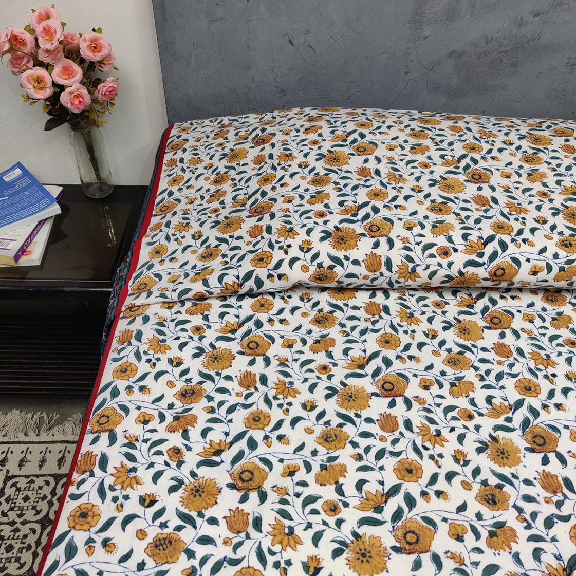 Double Bedsheet Handblock BHD149