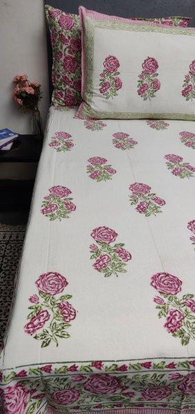 Double Bedsheet Handblock BHD154