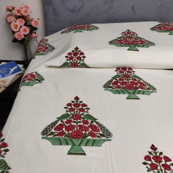 Double Bedsheet Handblock BHD161