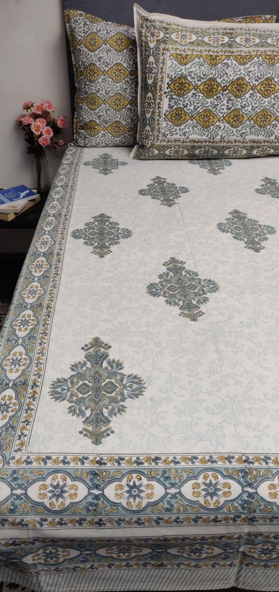 Double Bedsheet Handblock BHD164