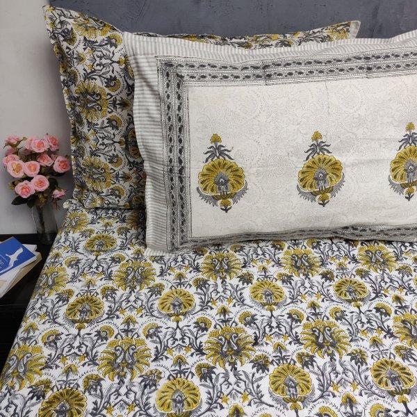 Double Bedsheet Handblock BHD170