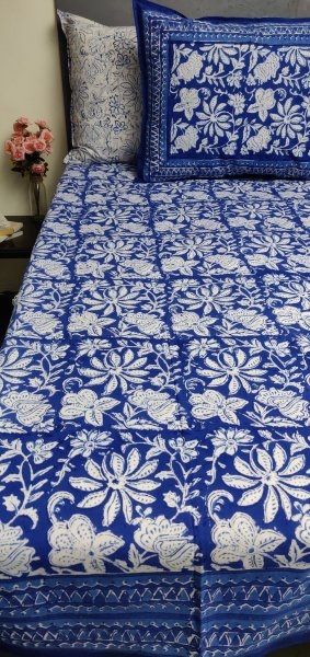 Double Bedsheet Handblock BHD177