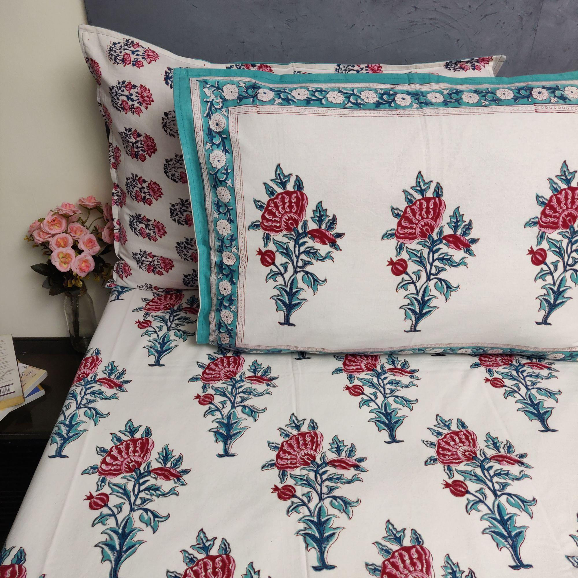 Double Bedsheet Handblock BHD180