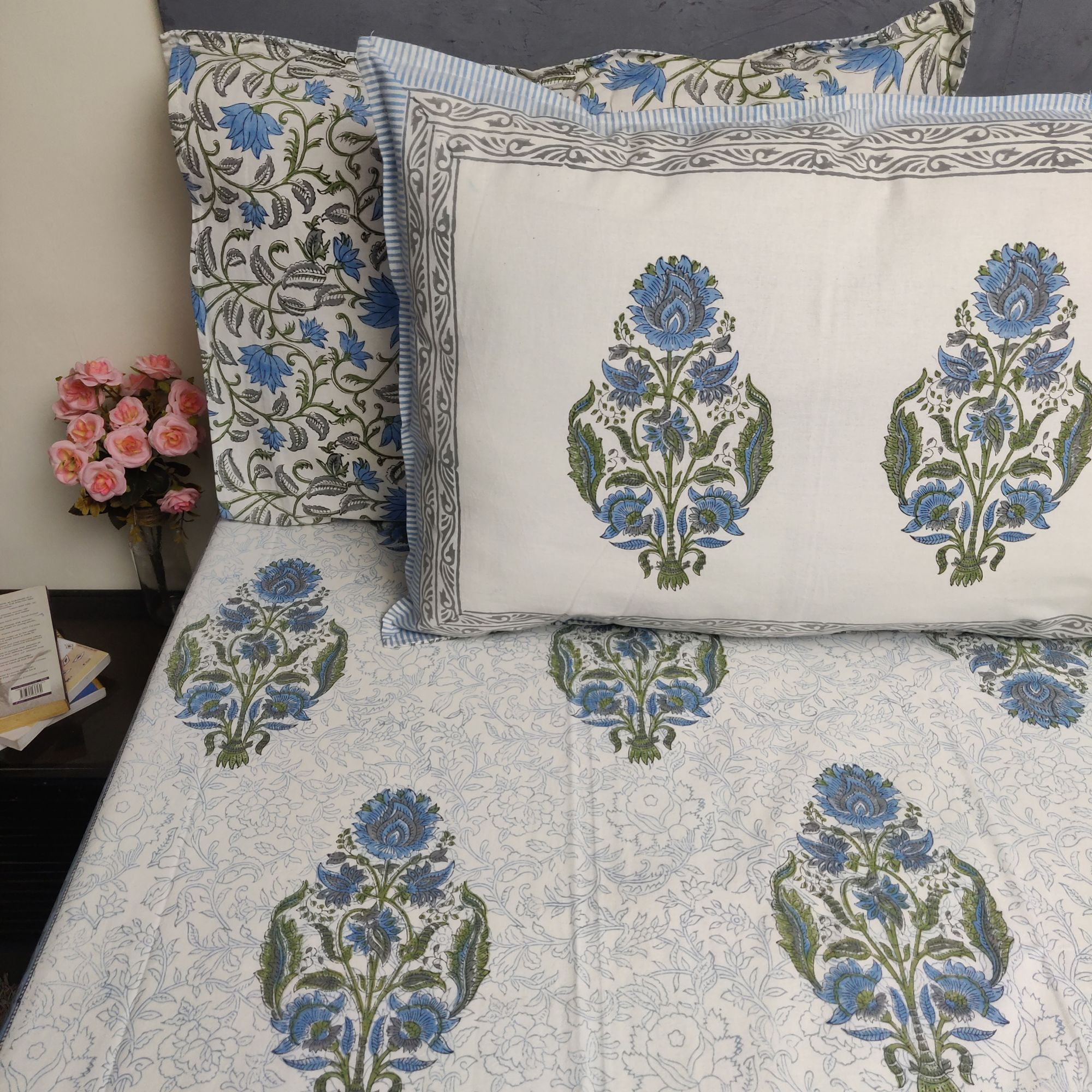 Double Bedsheet Handblock BHD181