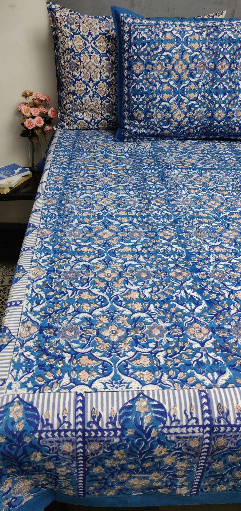 Double Bedsheet Handblock BHD182