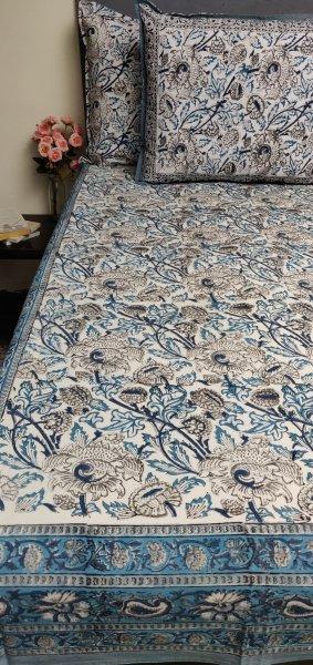 Double Bedsheet Handblock BHD186