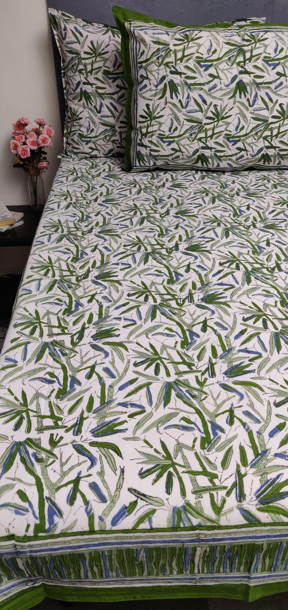 Double Bedsheet Handblock BHD189