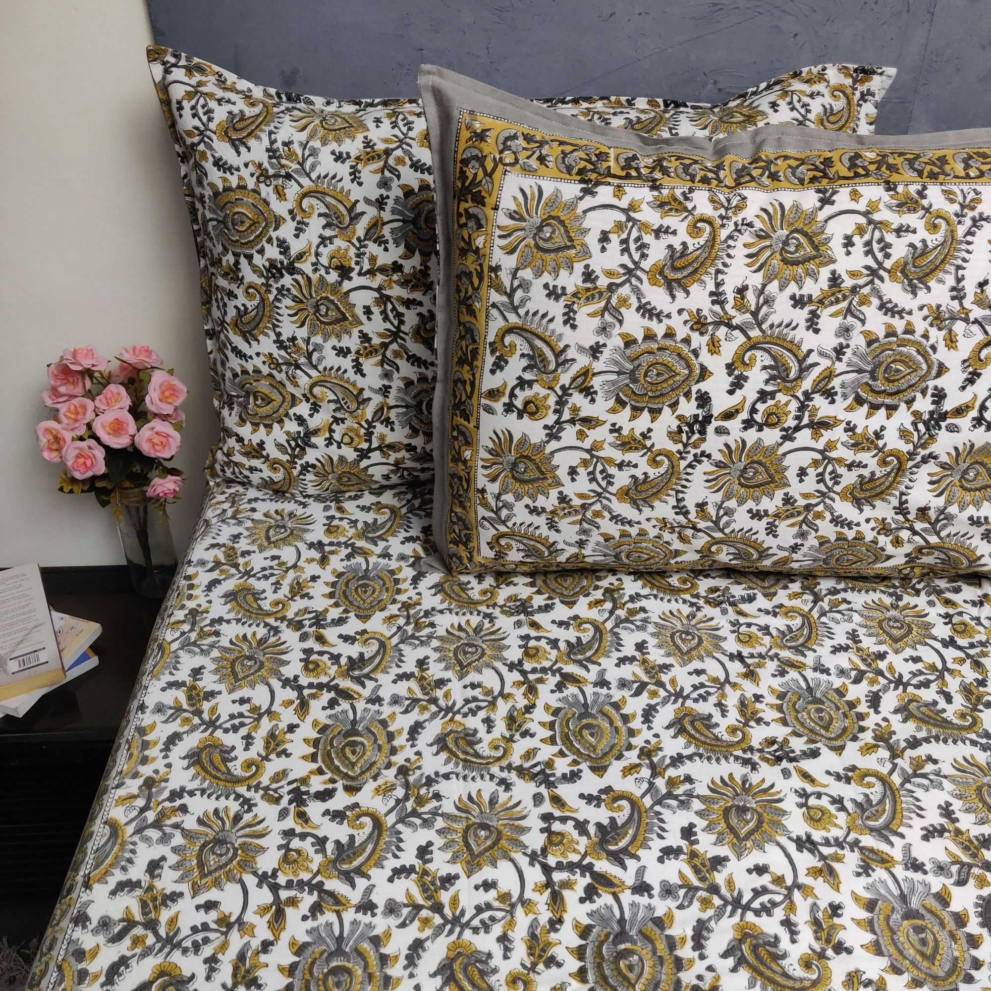 Double Bedsheet Handblock BHD197