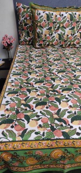 Double Bedsheet Handblock BHD205