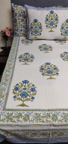 Double Bedsheet Handblock BHD206