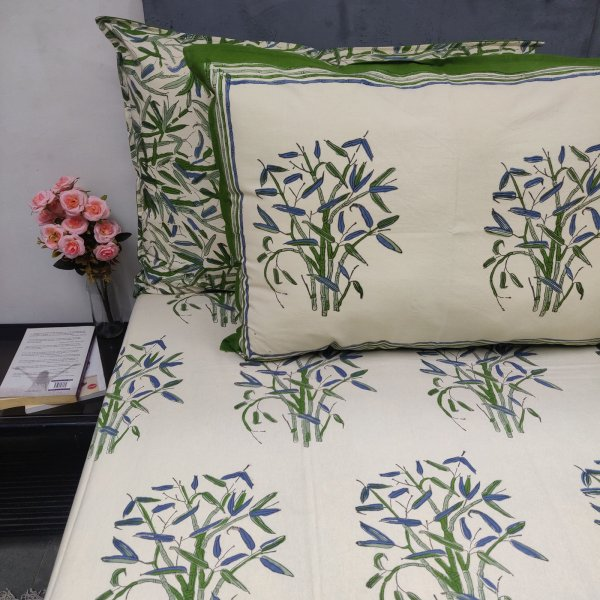 Green Forest Double Bedsheet