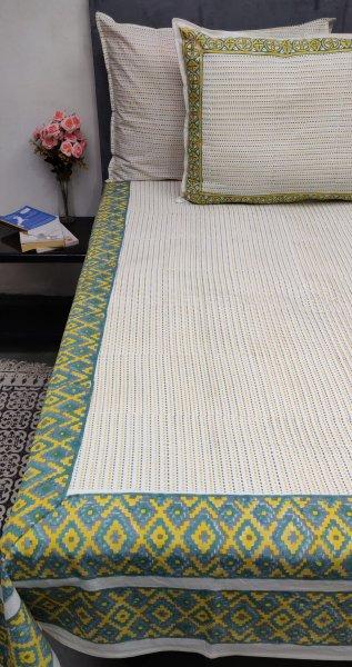 Kantha Stitch Design Double Bedsheet