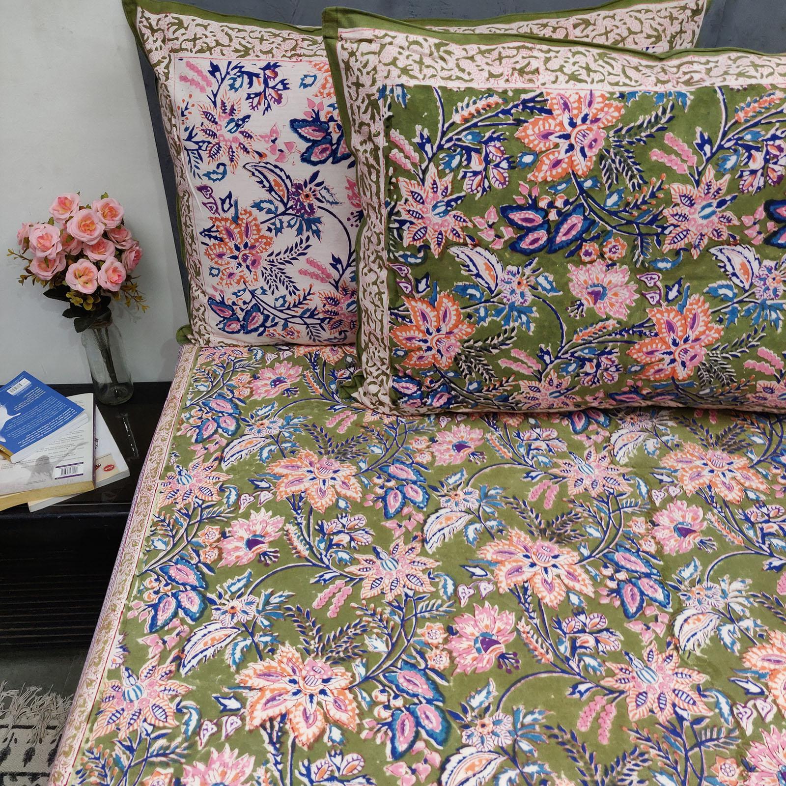 Floral Biva Double Bedsheet