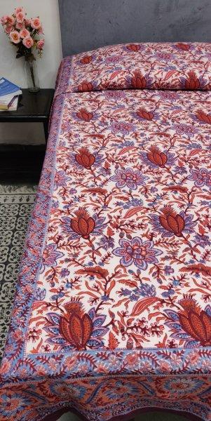 Double Bedsheet Handblock BHD87